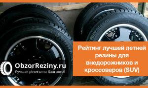 Рейтинг лучшей летней резины для внедорожников и кроссоверов (SUV)
